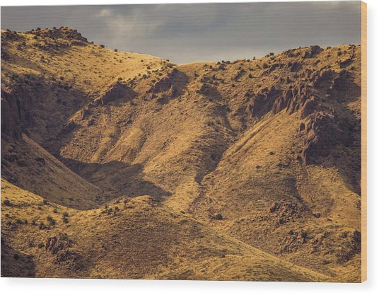 Chupadera Mountains Wood Print