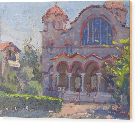 Church At Nea Erythraia Athens Wood Print