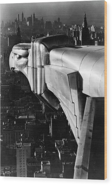 Chysler Building Gargoyle.  Photo By Ma Wood Print