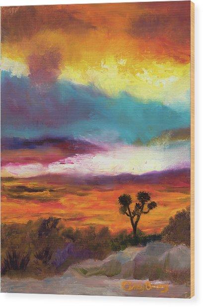Cindy Beuoy - Arizona Sunset Wood Print