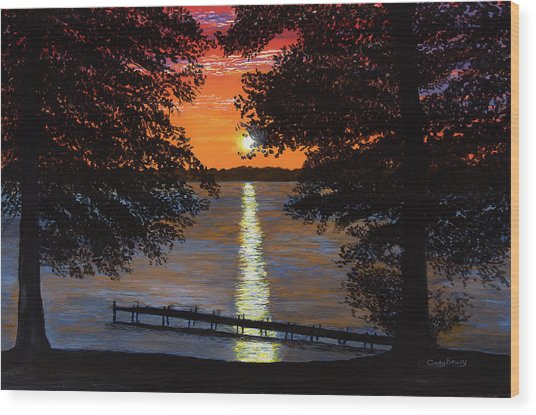 Cindy Beuoy - Lake Maxinkuckee Wood Print