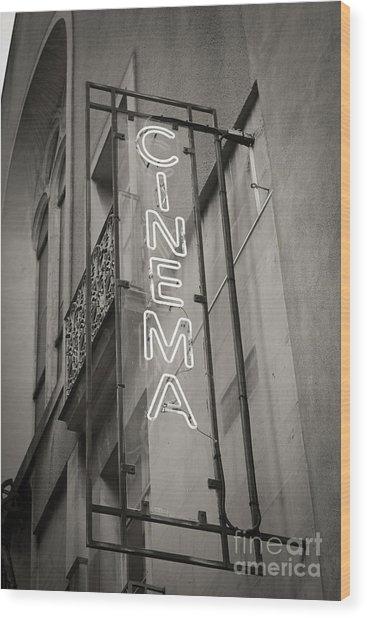 Cinéma De Quartier Wood Print