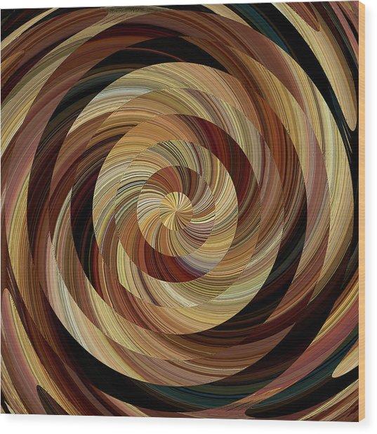 Cinnamon Roll Wood Print