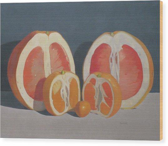 Citrus Family Wood Print