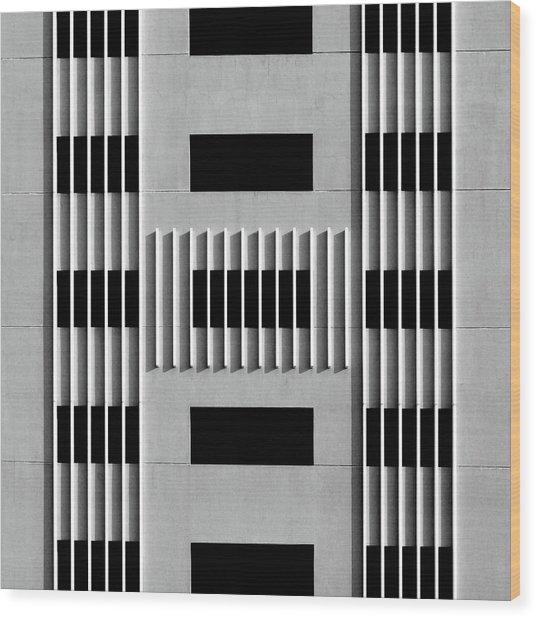 City Grids 64 Wood Print