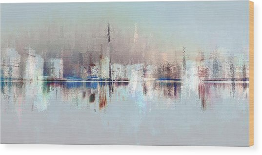City Of Pastels Wood Print