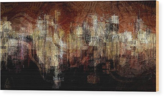 City On The Edge Wood Print