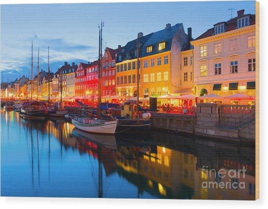 Cityscape Of Copenhagen At A Summer Wood Print
