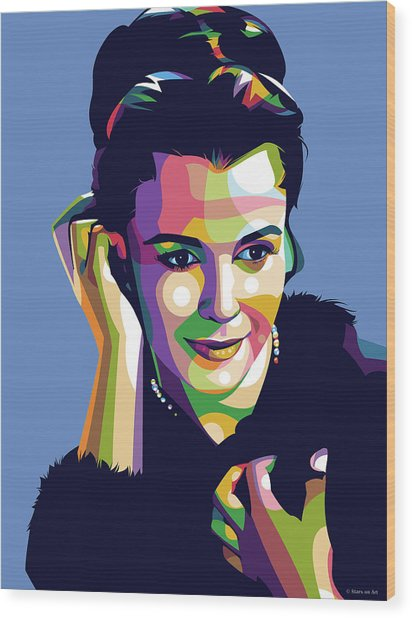 Claire Bloom Wood Print