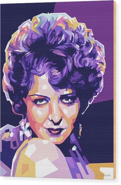 Clara Bow Pop Art Wood Print