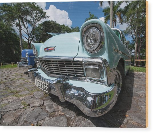 Classic Cuban Chevy Wood Print