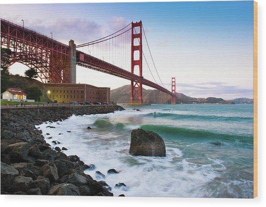 Classic Golden Gate Bridge Wood Print