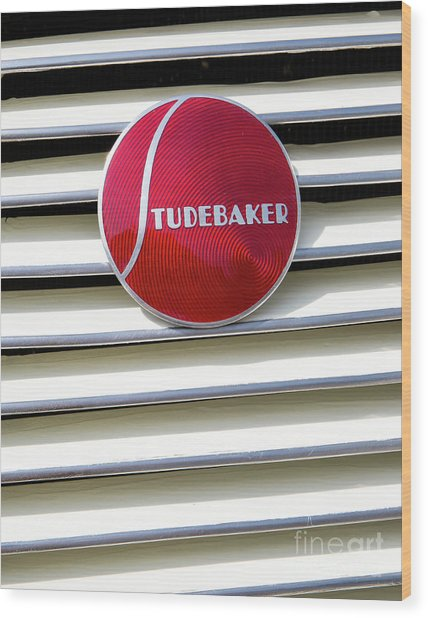 Classic Studebaker Logo Wood Print