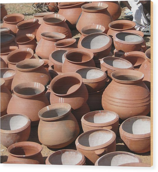 Clay Pots  For Sale In Chatikona  Wood Print