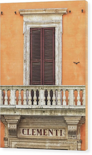 Clementi Rome Italy Wood Print by John Rizzuto