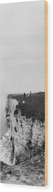 Cliff Climbers Wood Print by Alfred Hind Robinson