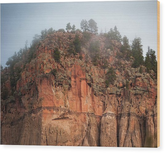 Cliff Face Hz Wood Print