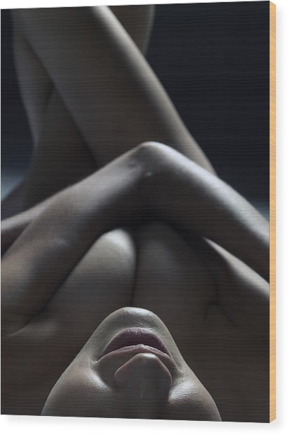 Close Up Of A Beautiful Nude Woman Wood Print by Win-initiative/neleman