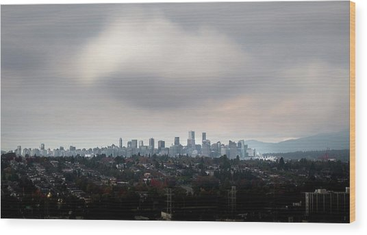 Cloud On Vancouver  Wood Print