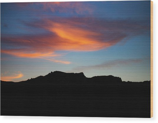 Cloud Over Mt. Boney Wood Print