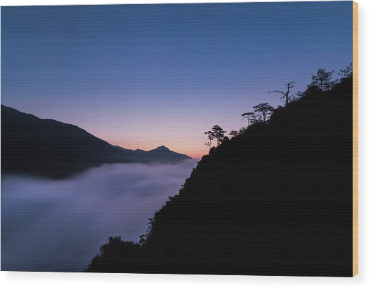Wood Print featuring the photograph Cloud River Twilight by William Dickman