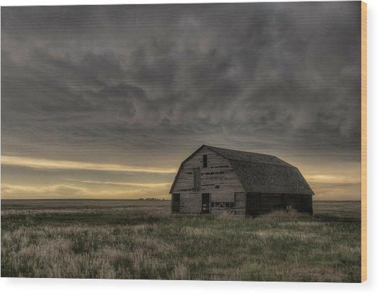 Clouds And Barn Wood Print