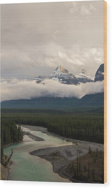 Wood Print featuring the photograph Clouds In The Valley by Alex Lapidus