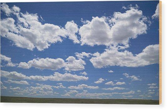 Clouds, Part 1 Wood Print