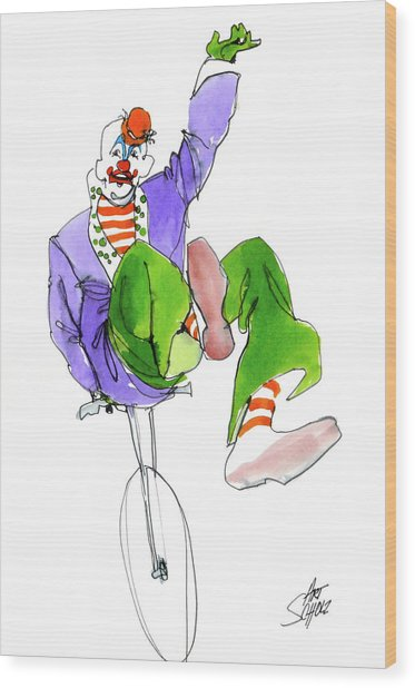 Clowns Wood Print by Art Scholz