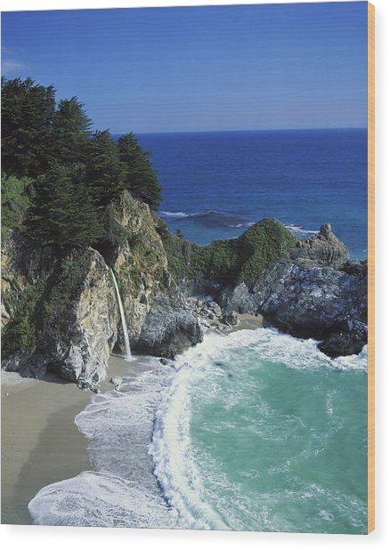 Coastline, Big Sur, California, Usa Wood Print