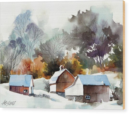 Cold Barns Wood Print by Art Scholz