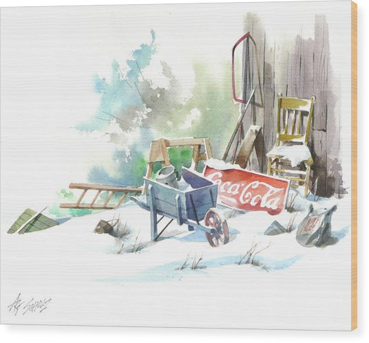 Cold Cola Wood Print by Art Scholz