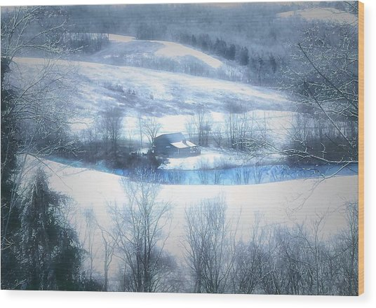 Cold Valley Wood Print