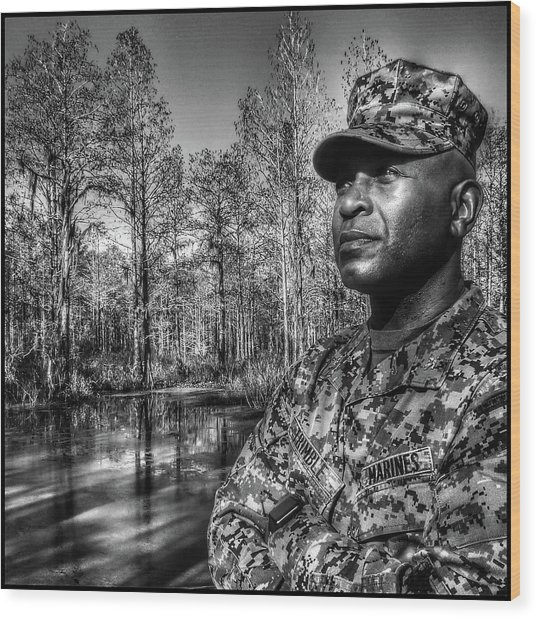 Wood Print featuring the photograph colonel Trimble 2 by Al Harden