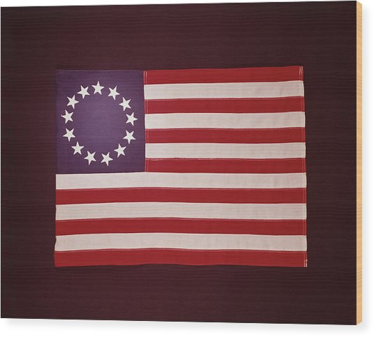 Colonial Us Flag Wood Print by H. Armstrong Roberts