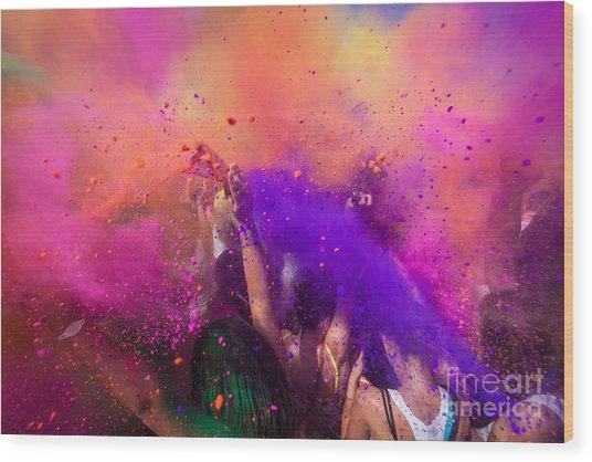 Color Festival Wood Print