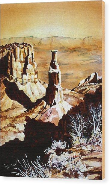 Colorado Monument Wood Print