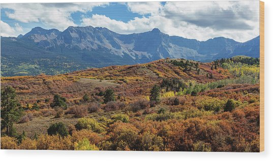 Wood Print featuring the photograph Colorado Painted Landscape Panorama Pt1 by James BO Insogna