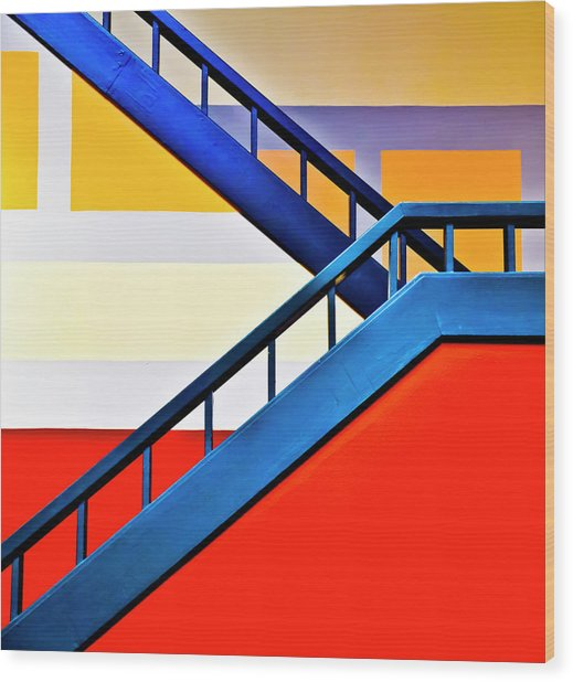 Colorful Climb Wood Print by By Wesbs