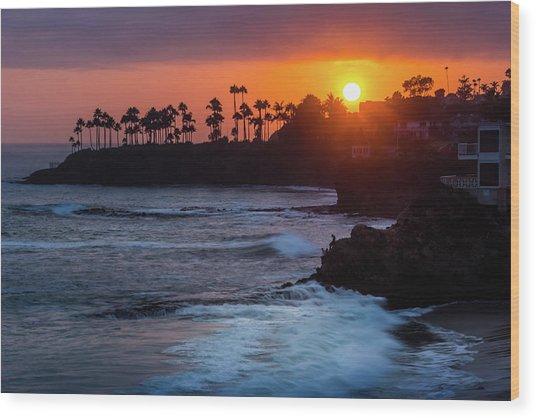 Colorful Laguna Beach Sunset Wood Print