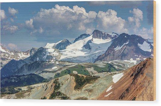 Wood Print featuring the photograph Colorful Mountain Peaks by Pierre Leclerc Photography