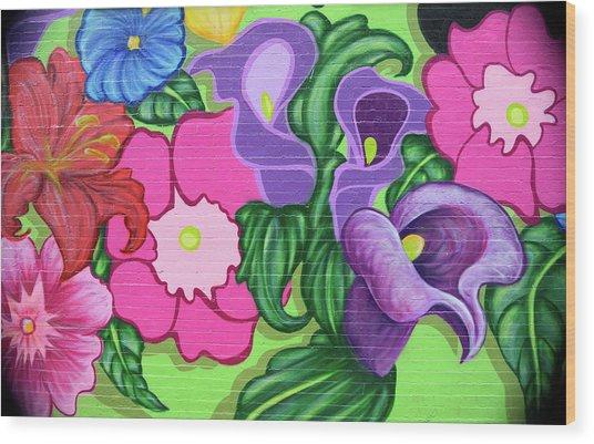 Colorful Mural Wood Print
