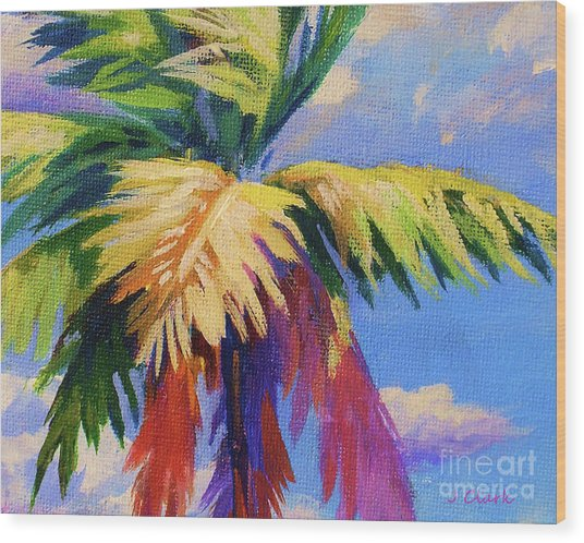 Colorful Palm Wood Print