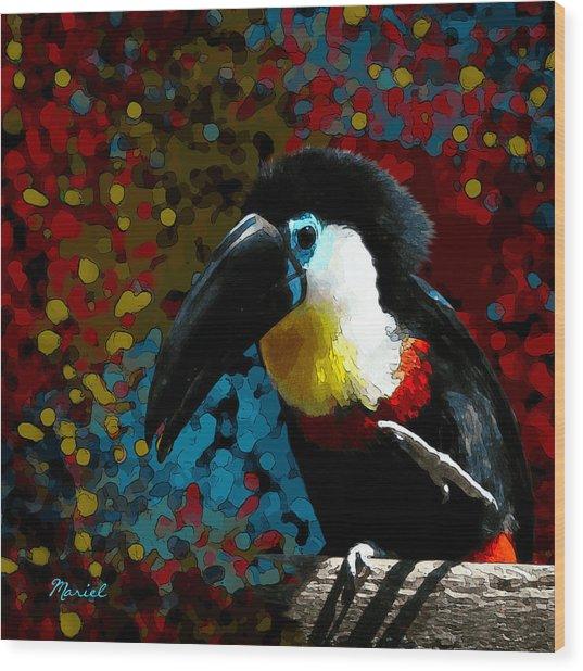 Colorful Toucan Wood Print