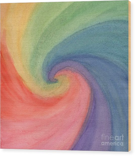 Colorful Wave Wood Print