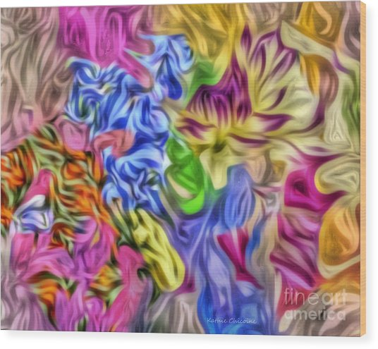 Colors From Nature Wood Print