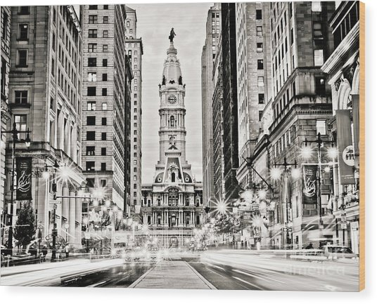 Colors On Broad B/w Wood Print by Stacey Granger