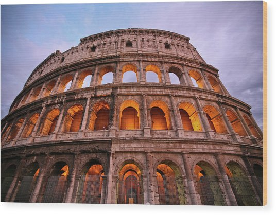 Colosseum - Coliseu Wood Print