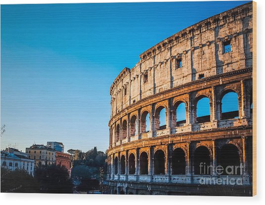 Colosseum In Rome In Rome, Italy Wood Print