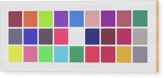 Colour Alphabet Upper Wood Print